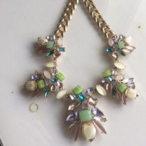 Stella & Dot rhinestone statement necklace